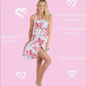 Baby be mine labor gown size S/M (0-12)